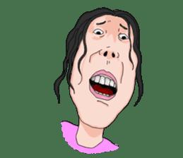 Full funny Face sticker #507398