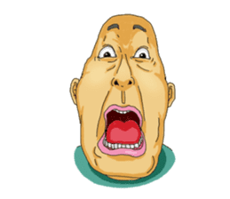 Full funny Face sticker #507414