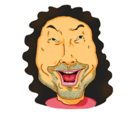 Full funny Face sticker #507416