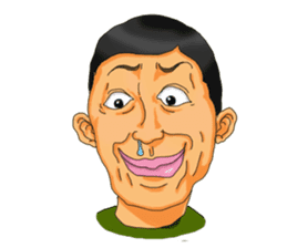 Full funny Face sticker #507421