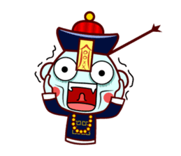 Chinese Little Zombie-Jumpster sticker #509718