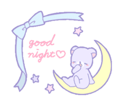 Good night Girl sticker #510286