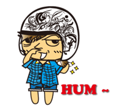 Helmets Kim sticker #510929