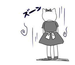 A maid cat and me sticker #511330