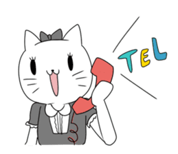 A maid cat and me sticker #511340