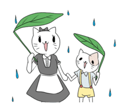 A maid cat and me sticker #511343