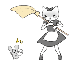 A maid cat and me sticker #511344