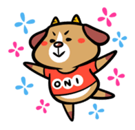 Demon dog sticker #511835