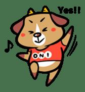 Demon dog sticker #511836