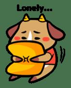 Demon dog sticker #511852