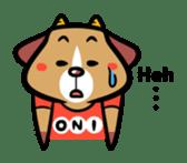 Demon dog sticker #511858
