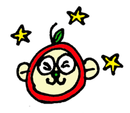 apple monkey sticker #512319