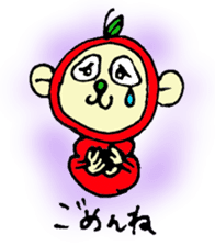 apple monkey sticker #512332