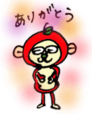 apple monkey sticker #512347