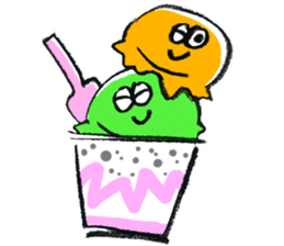Summer and Ice cream sticker #512540