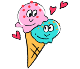 Summer and Ice cream sticker #512548