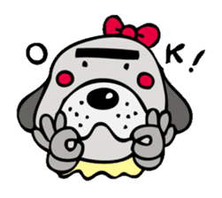 busu kawaii dog sticker #515277