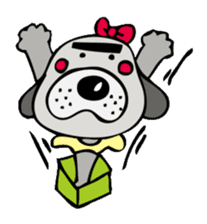 busu kawaii dog sticker #515284