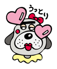 busu kawaii dog sticker #515300