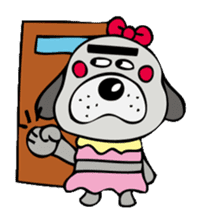 busu kawaii dog sticker #515308