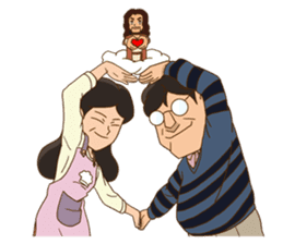 The blessed family sticker #516141