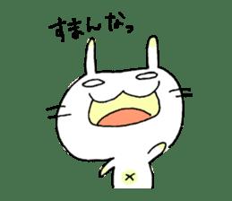 goofy rabbit sticker #516365
