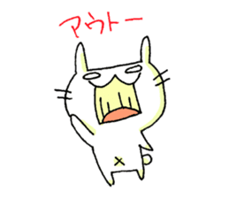 goofy rabbit sticker #516367