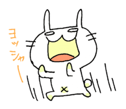 goofy rabbit sticker #516387