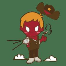 Bill, the fun and charming cowboy sticker #518476