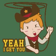 Bill, the fun and charming cowboy sticker #518479