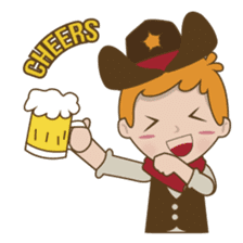 Bill, the fun and charming cowboy sticker #518487