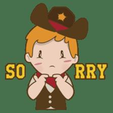 Bill, the fun and charming cowboy sticker #518491