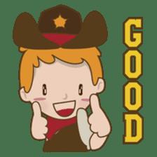 Bill, the fun and charming cowboy sticker #518505
