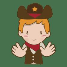 Bill, the fun and charming cowboy sticker #518508