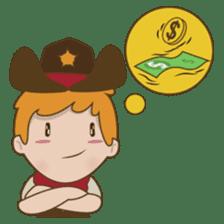 Bill, the fun and charming cowboy sticker #518513