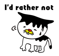 Chicken,Negative Cat(ENG ver.) sticker #520363
