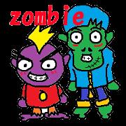 สติ๊กเกอร์ไลน์ zombies