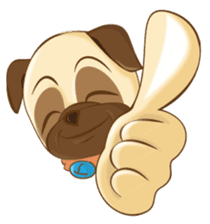 Puggy Pug sticker #520714