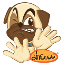 Puggy Pug sticker #520723