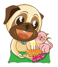 Puggy Pug sticker #520740