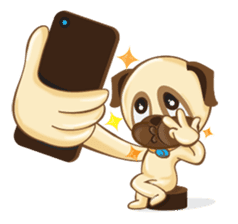 Puggy Pug sticker #520747