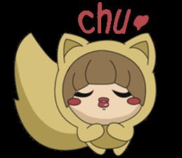 cute fox sticker #520756