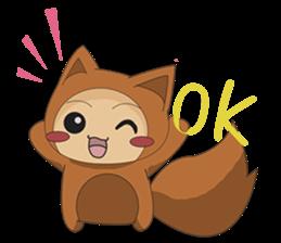 cute fox sticker #520758