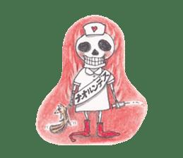 Skeleton Uhbe-san(1) sticker #523165