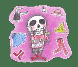 Skeleton Uhbe-san(1) sticker #523173