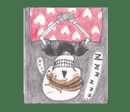 Skeleton Uhbe-san(1) sticker #523177