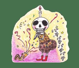 Skeleton Uhbe-san(1) sticker #523179