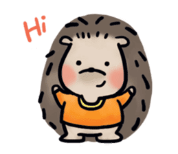 Chubby the hedgehog sticker #526330
