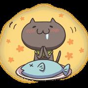 สติ๊กเกอร์ไลน์ Kuro the cat