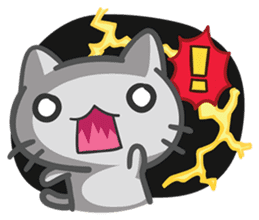 What does the cat say ... Meow sticker #532000